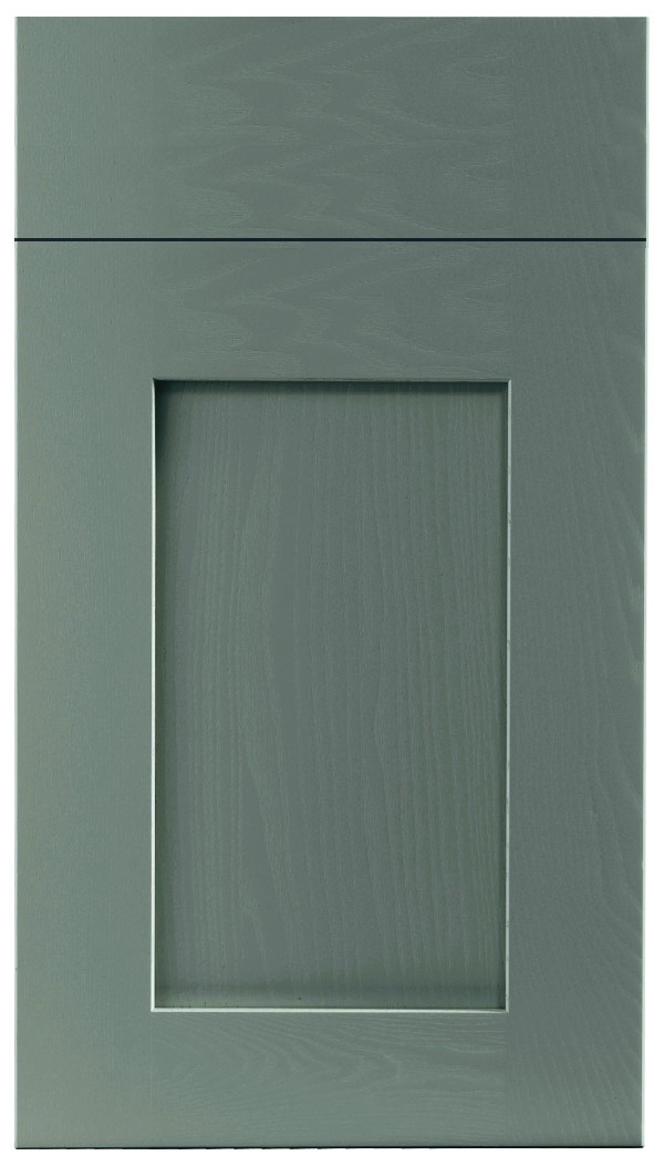 Solid Wood Dust Grey Door
