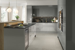 Tradiotional - Venice - High Gloss Light Grey & High Gloss Dust Grey